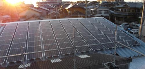 沼津 Y様工場及びアパート Type-G 17.55kW+Type-R 13.20kW+Type-R 6.00kW+屋根葺替え
