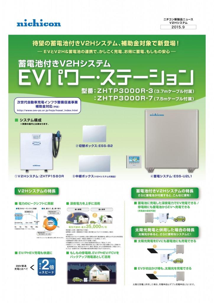 蓄電池付きV2Hシステム@Vサ品ニュ[ス-001